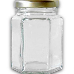12oz Hexagonal Glass Jar
