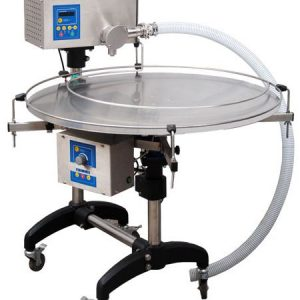 Honey bottler with automatic turn table