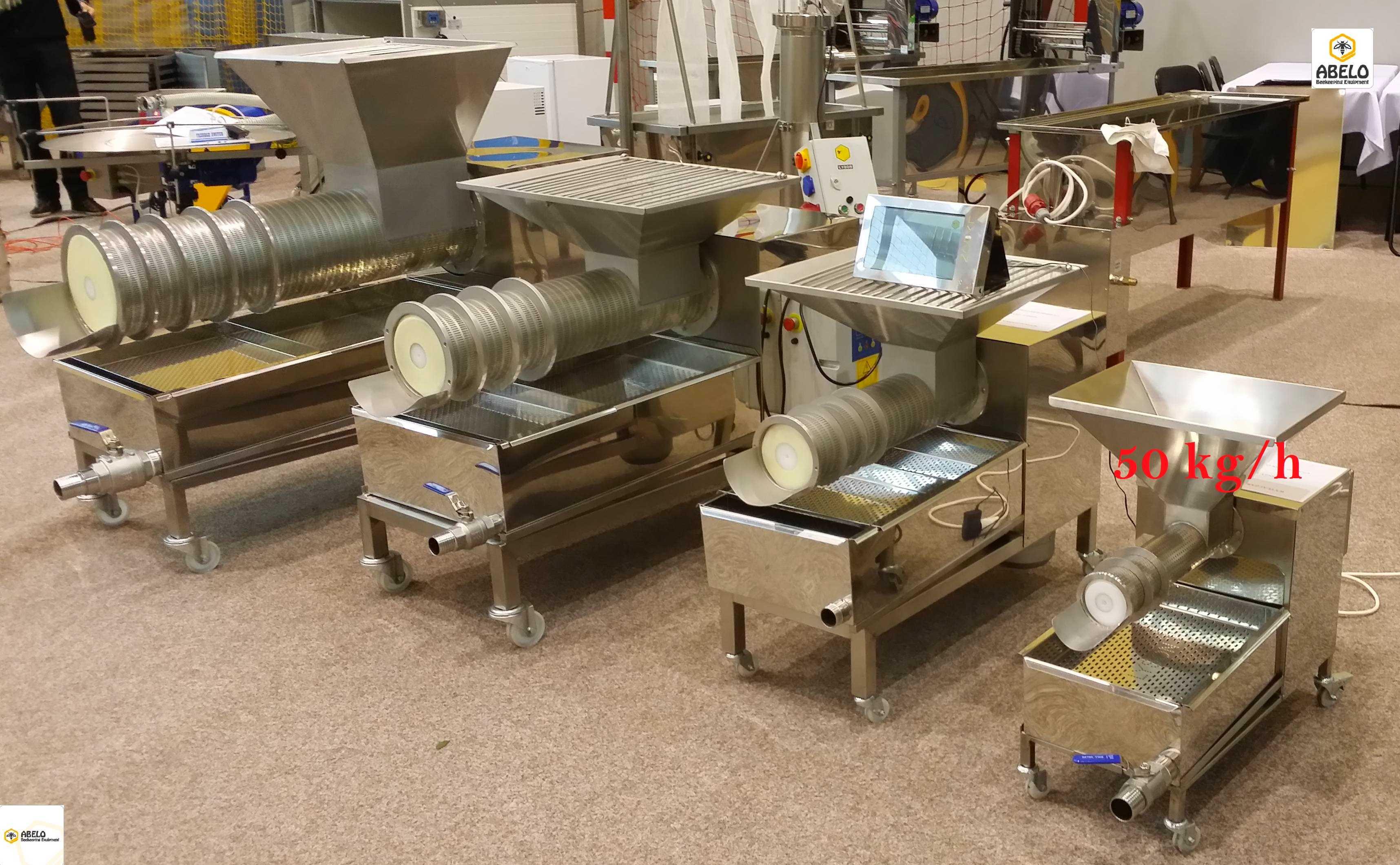 Cappings Screw Press HONEY/WAX SEPARATOR 50kg/h