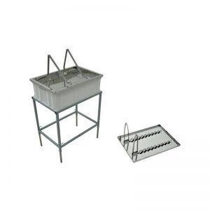 Uncapping Table with Stand and Stainless Steel Strainer